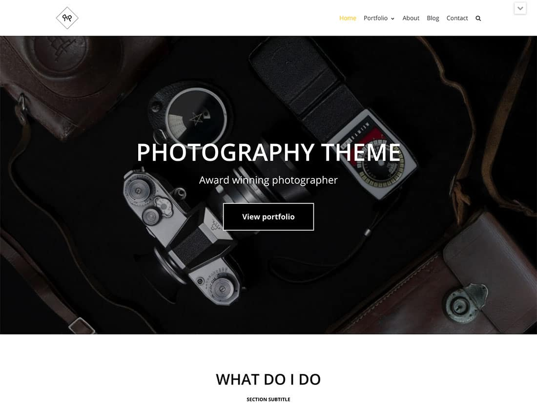 Neve - 51+ Nice Free WordPress Themes For Photography [year]