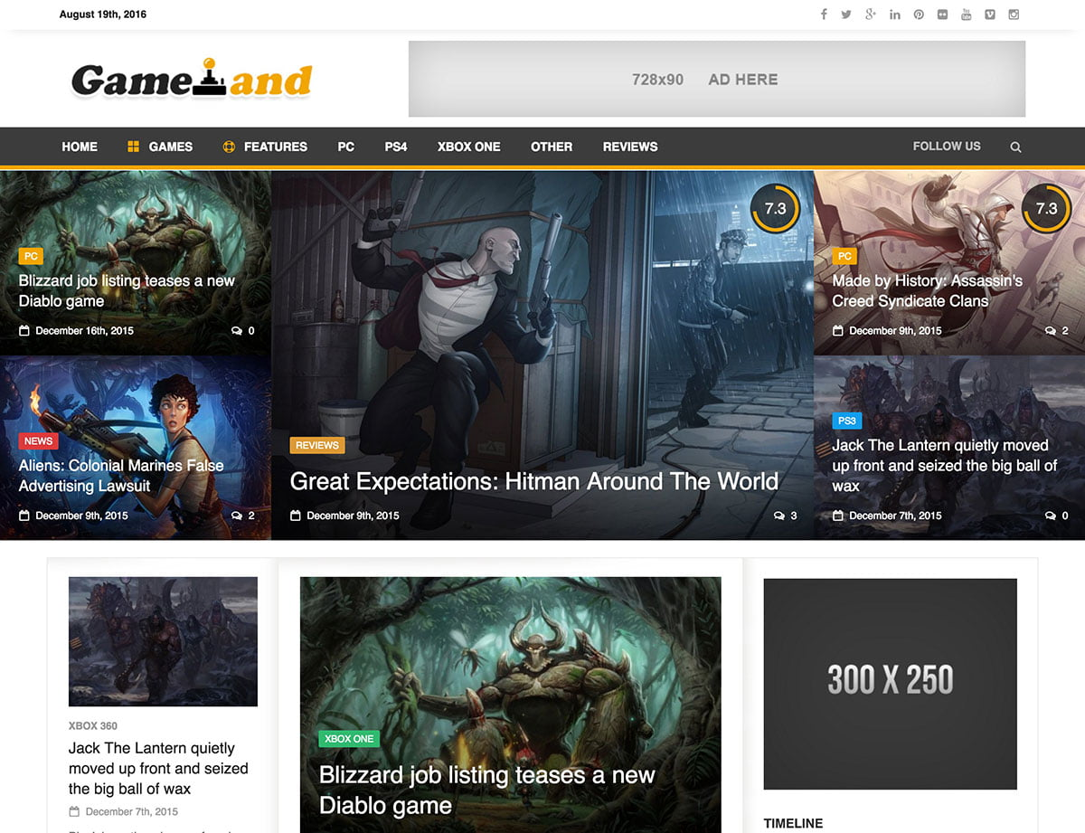 NewsGamer - 35+ Awesome WordPress Themes For Gaming [year]