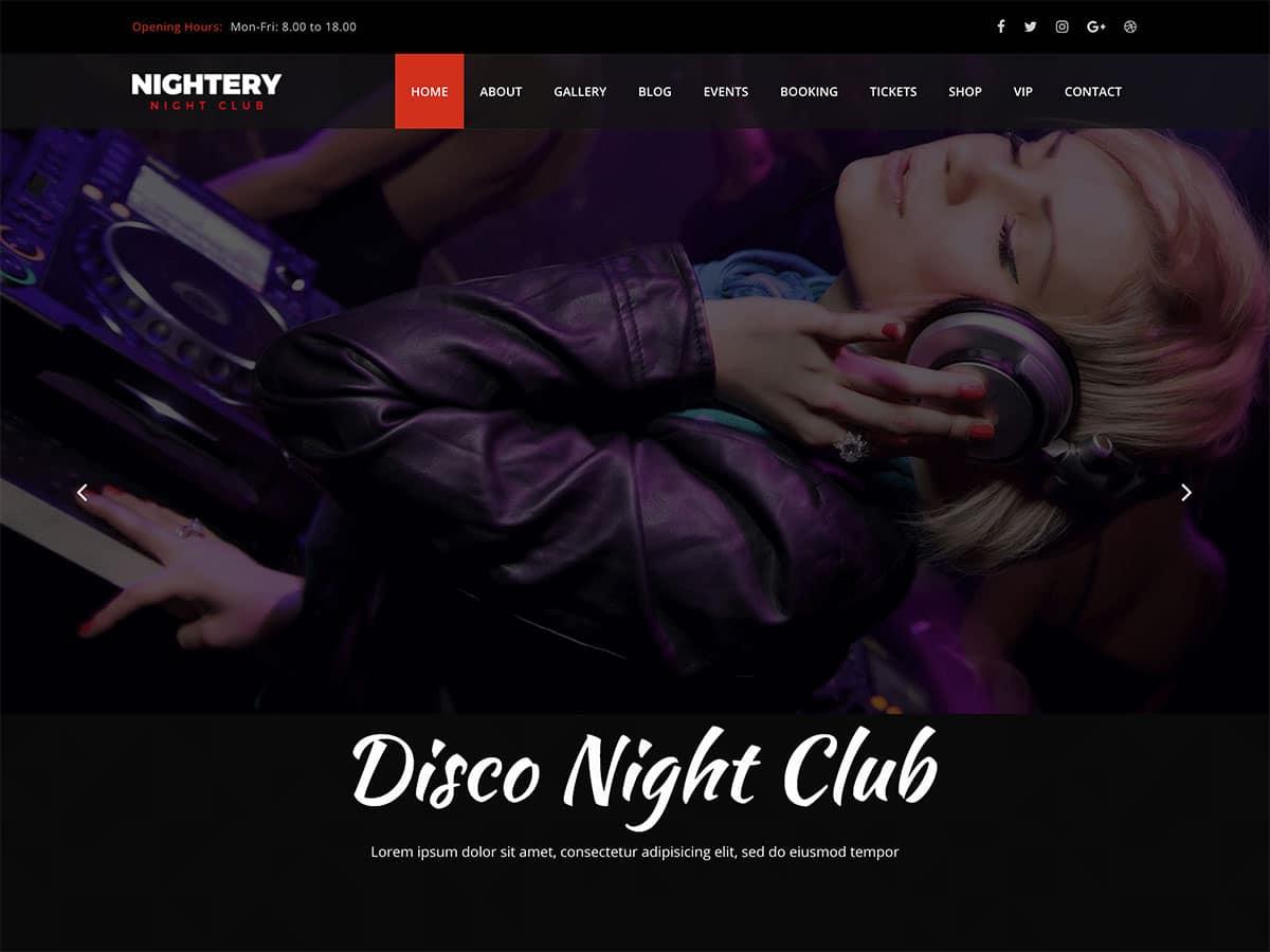 Nightery - 35+ Nice WordPress Themes For Nightclub [year]