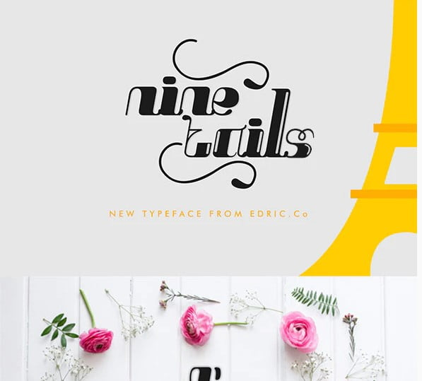 NineTails - 51+ Free Fonts For Calligraphy & Hand Lettering [year]