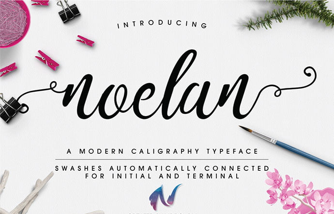 Noelan - 51+ Free Fonts For Calligraphy & Hand Lettering [year]
