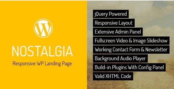 Nostalgia - 36+ Best Quality Retro WordPress Themes [year]
