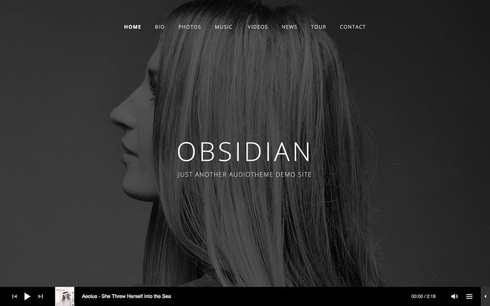 Obsidian - 40+ Awesome WordPress Themes For Music [year]