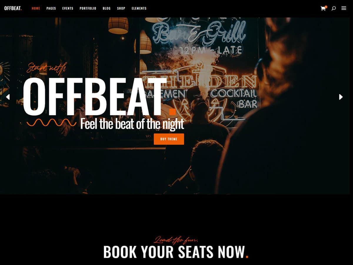 Offbeat - 35+ Nice WordPress Themes For Nightclub [year]