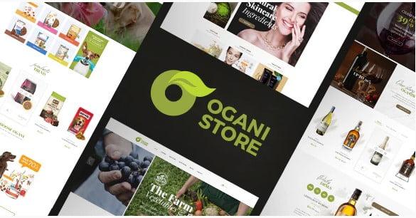 Ogani - 31+ Amazing Big Fonts Responsive WordPress Themes [year]