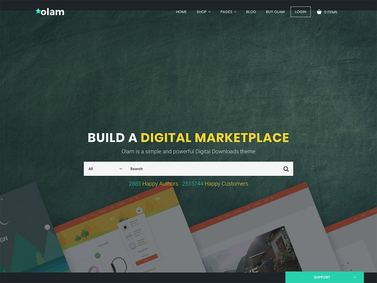 Olam - 36+ Awesome WordPress Digital Products Selling Themes [year]