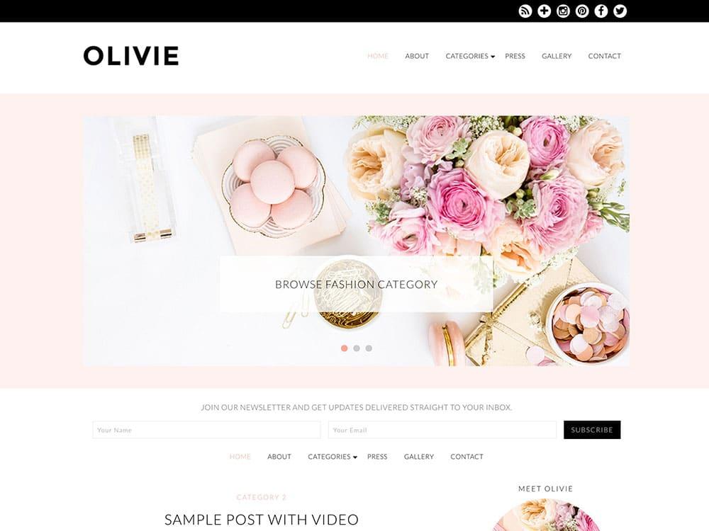 Olivie - 36+ Nice WordPress Themes For Fashion Blog [year]