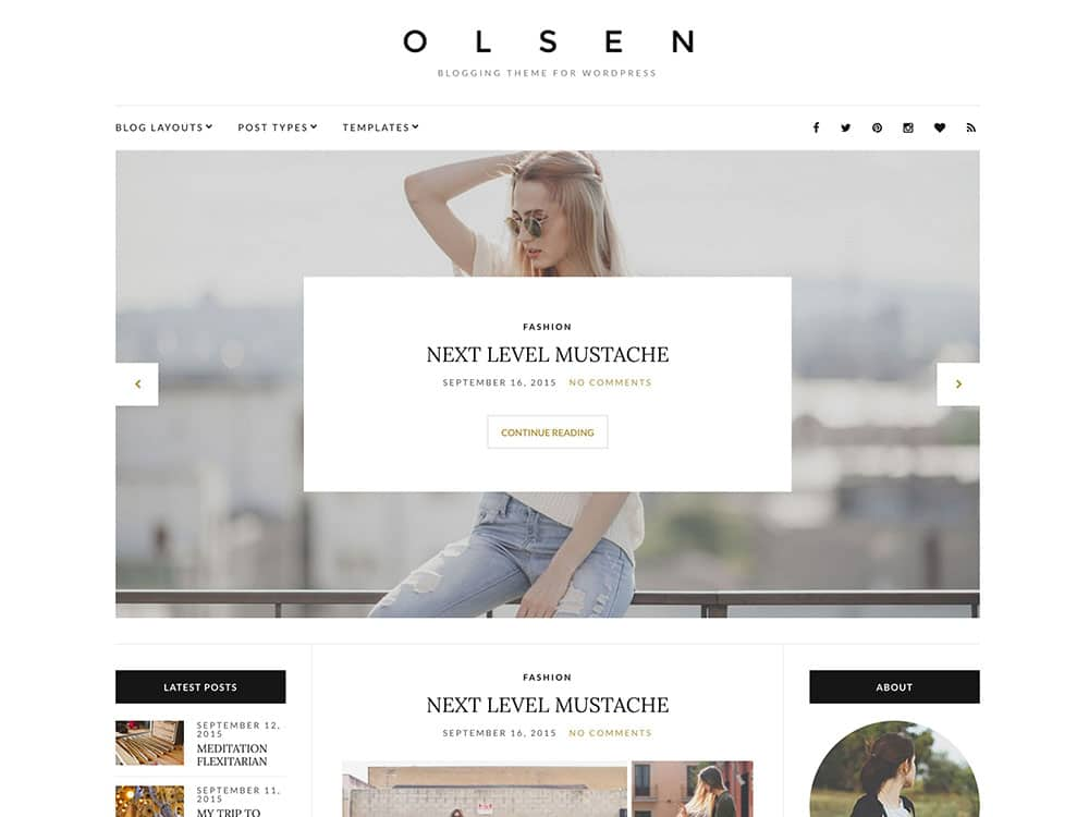 Olsen - 36+ Nice WordPress Themes For Fashion Blog [year]