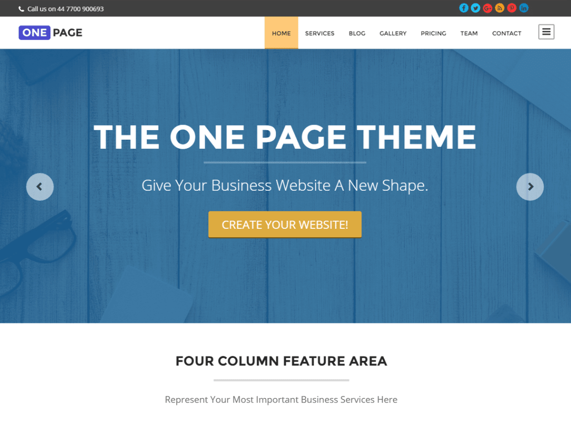 One-Page - 46+ Best Free WordPress One Page Themes [year]