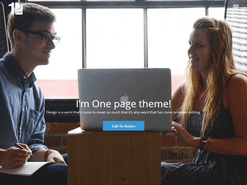 One-Paze - 46+ Best Free WordPress One Page Themes [year]