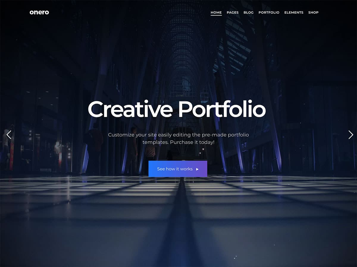 Onero - 31+ Amazing WordPress Themes For Creative [year]