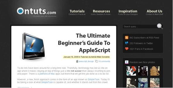 Ontuts - 31+ Amazing Big Fonts Responsive WordPress Themes [year]