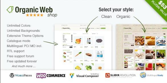 Organic-Web-Shop - 36+ Top Quality WordPress Themes For Coffee Shop [year]