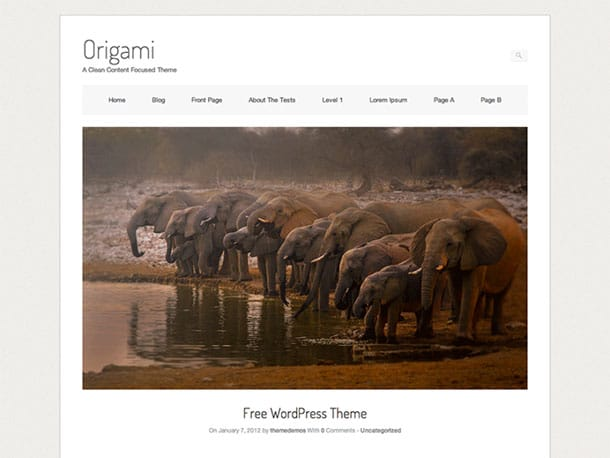 Origami - 51+ Nice Free WordPress Themes For Photography [year]