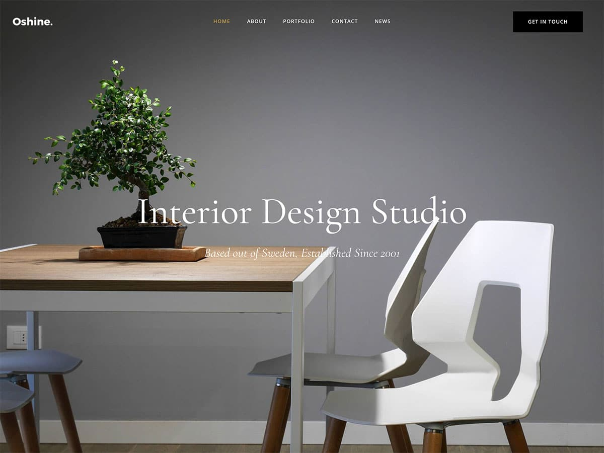 Oshine-2 - 30+ Top Quality WordPress Themes For Interior Design [year]