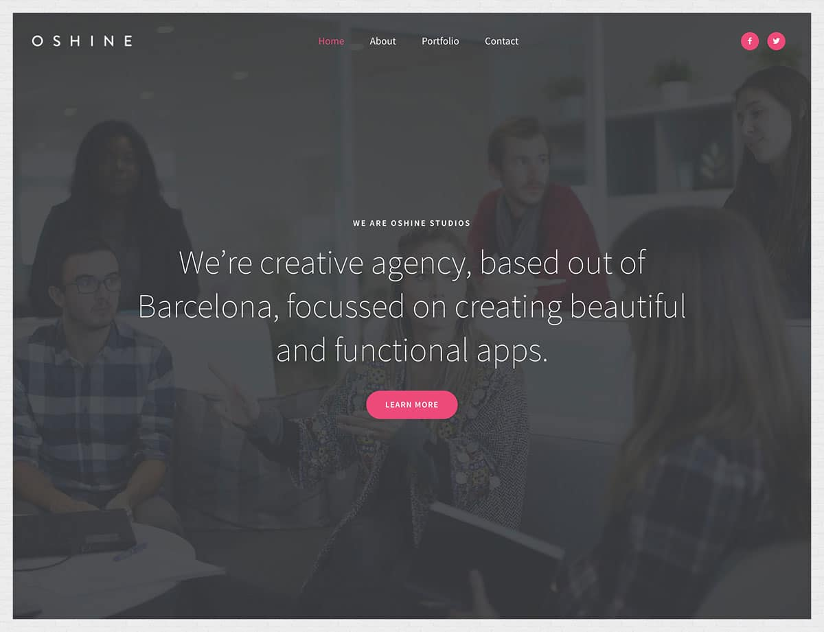 Oshine - 40+ Awesome WordPress Themes For Creative Agency [year]