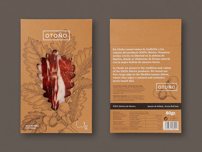 Otono - 35+ Awesome Die Cut Packaging Designs Template [year]