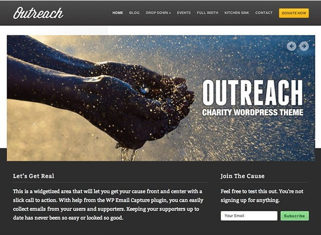 Outreach - 36+ Amazing WordPress Themes For Non-Profit, Charity [year]