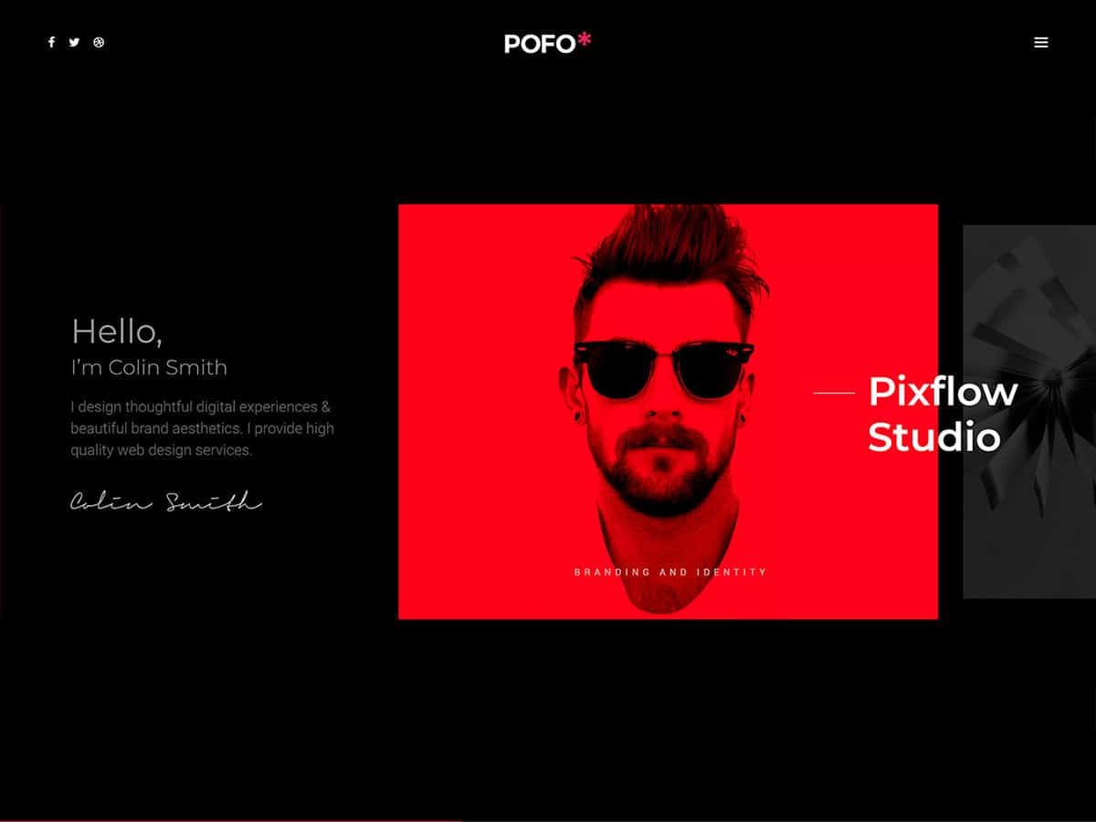 POFO - 40+ Awesome WordPress Themes For Creative Agency [year]