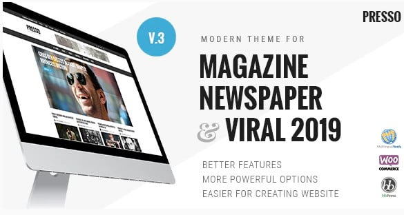 PRESSO - 30+ Top Quality WordPress Themes For Viral [year]