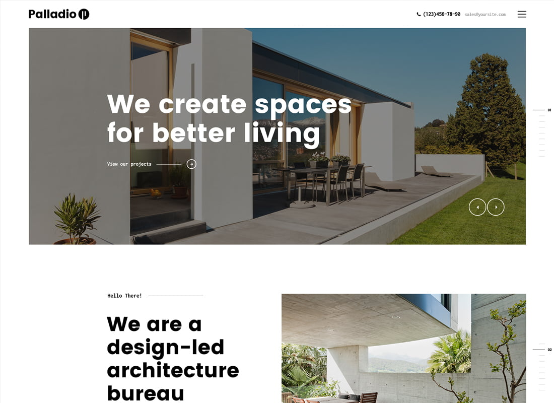 Palladio - 36+ Top Quality WordPress Themes For Interior Design [year]