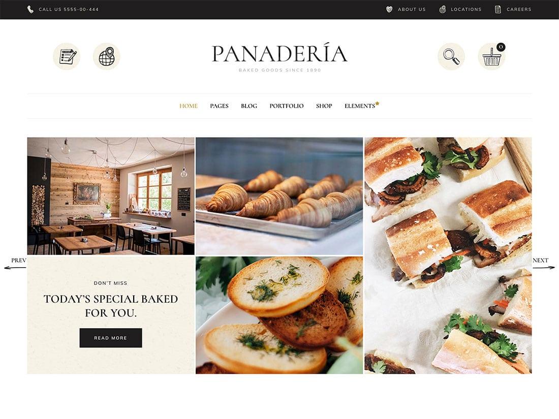 Panadería-1 - 30+ Amazing Bakeries WordPress Themes [year]