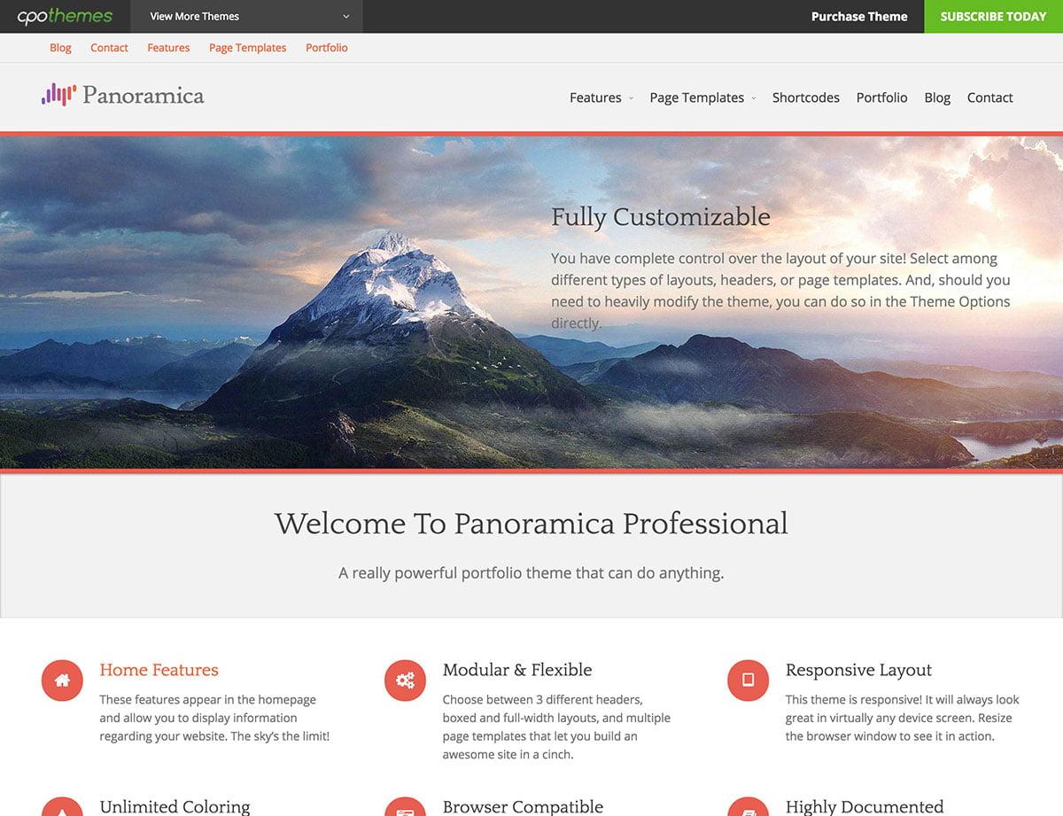 Panoramica - 46+ Nice Free WordPress Portfolio Themes [year]
