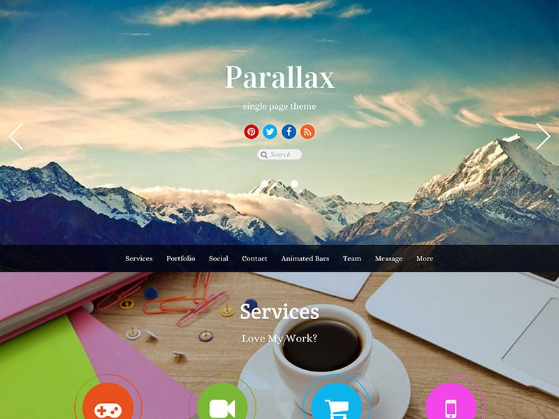 Parallax - 41+ Amazing WordPress Parallax Themes For You [year]