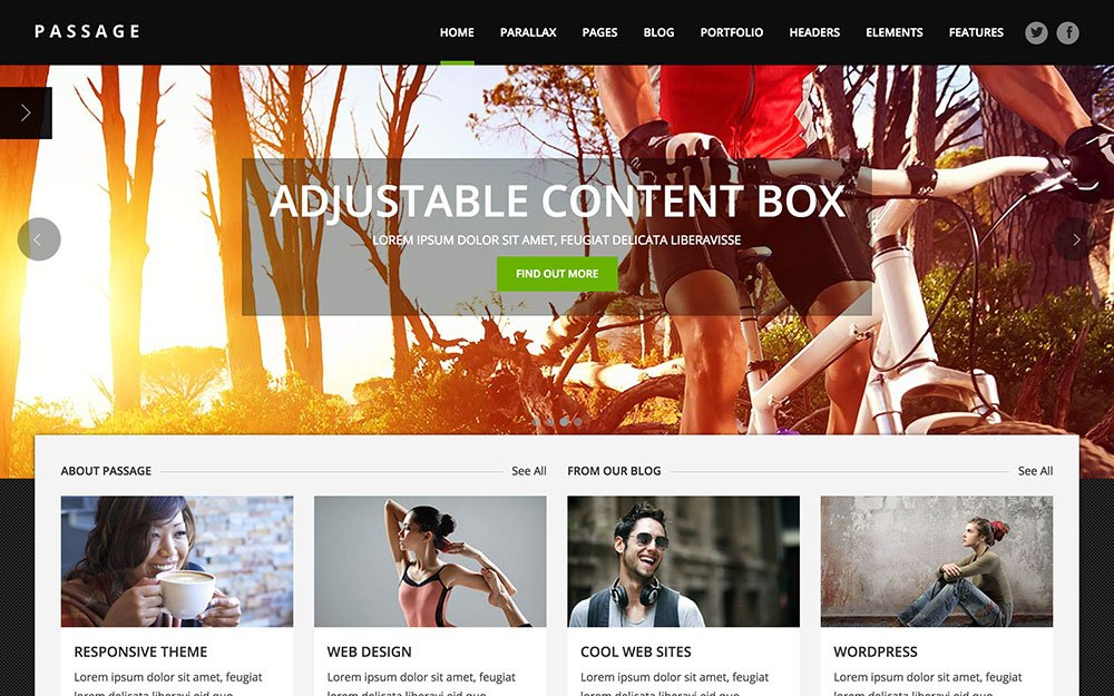 Passage - 41+ Amazing WordPress Parallax Themes For You [year]