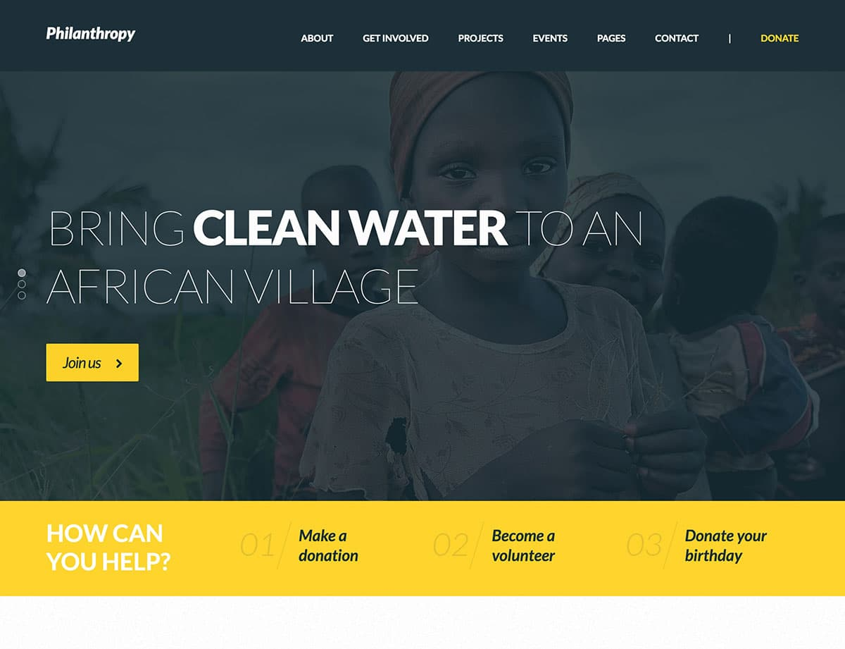 Philanthropy - 36+ Amazing WordPress Themes For Non-Profit, Charity [year]