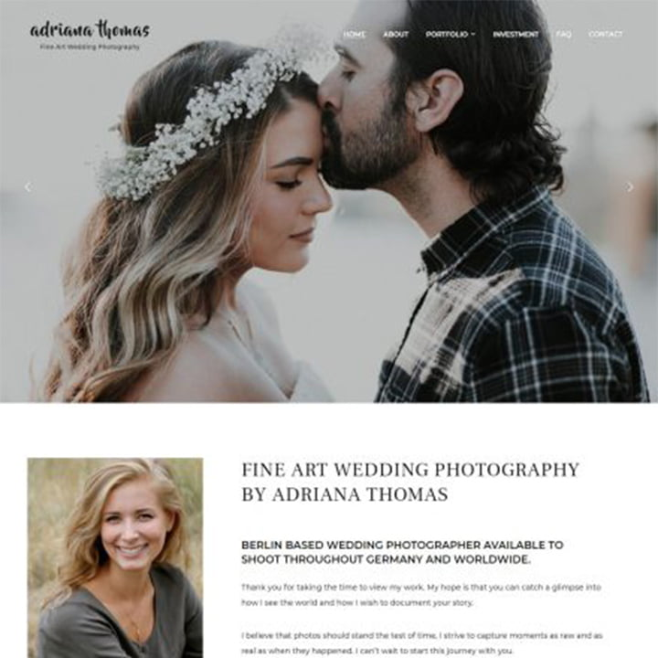 PhotoFrame - 36+ Elegant Free WordPress Wedding Themes [year]