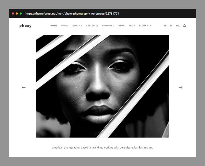Photography-Phoxy - 31+ Awesome Wedding Photography Service WordPress Themes [year]