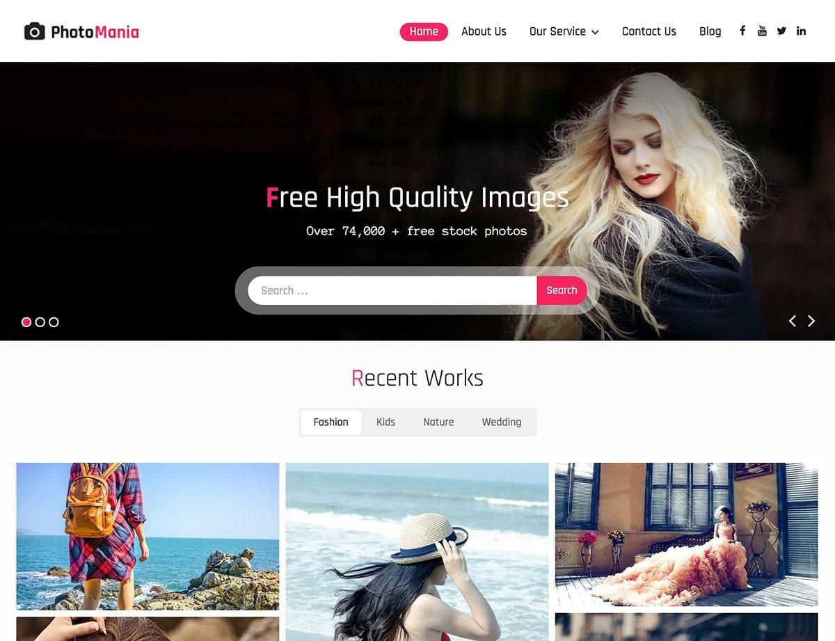 Photomania-1 - 46+ Nice Free WordPress Portfolio Themes [year]