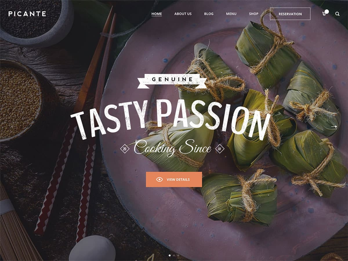 Picante - 50+ Nice WordPress Themes For Restaurant [year]