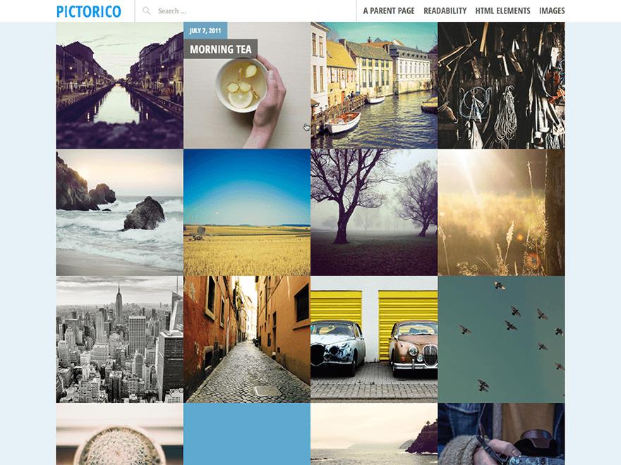 Pictorico - 46+ Nice Free WordPress Portfolio Themes [year]