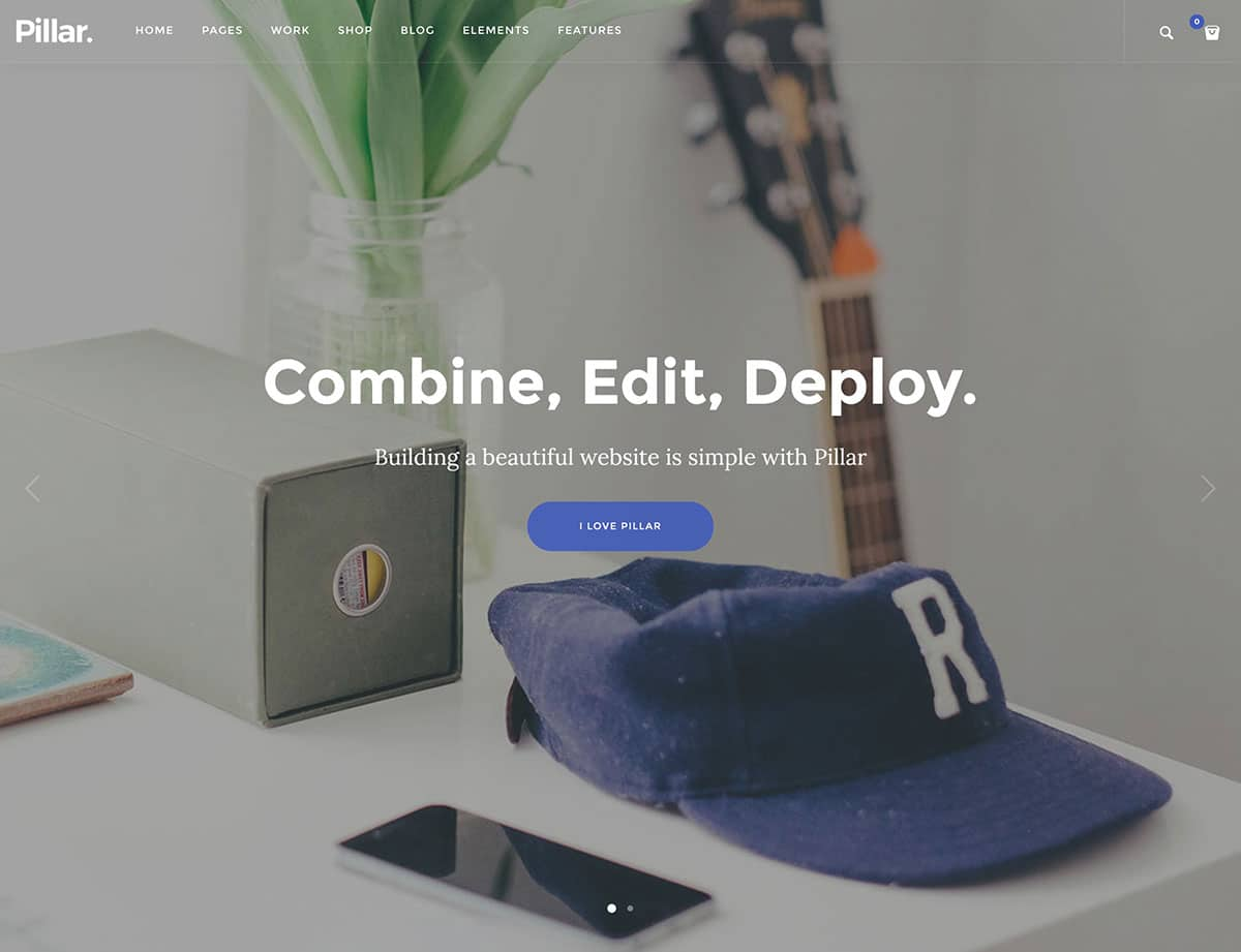 Pillar - 40+ Awesome WordPress Themes For Creative Agency [year]