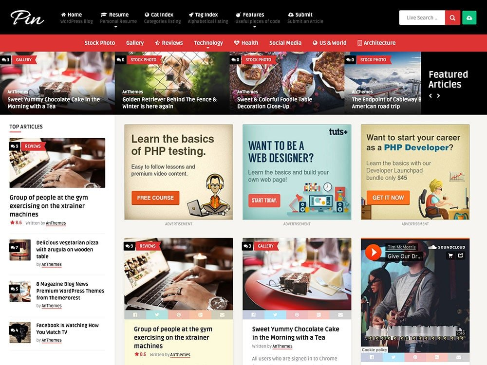 Pin - 36+ Awesome WordPress Content Sharing Themes [year]