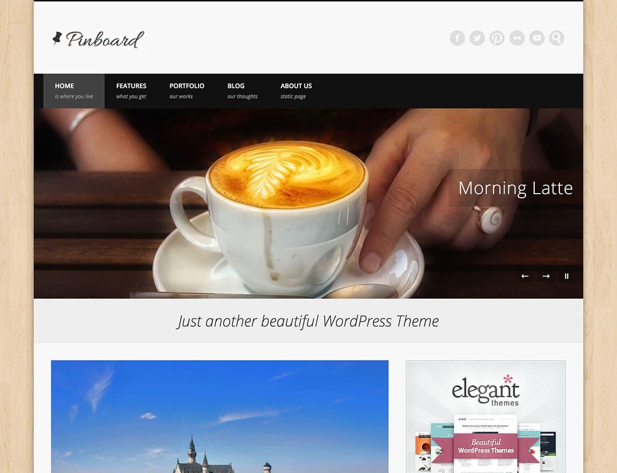 Pinboard - 46+ Nice Free WordPress Portfolio Themes [year]