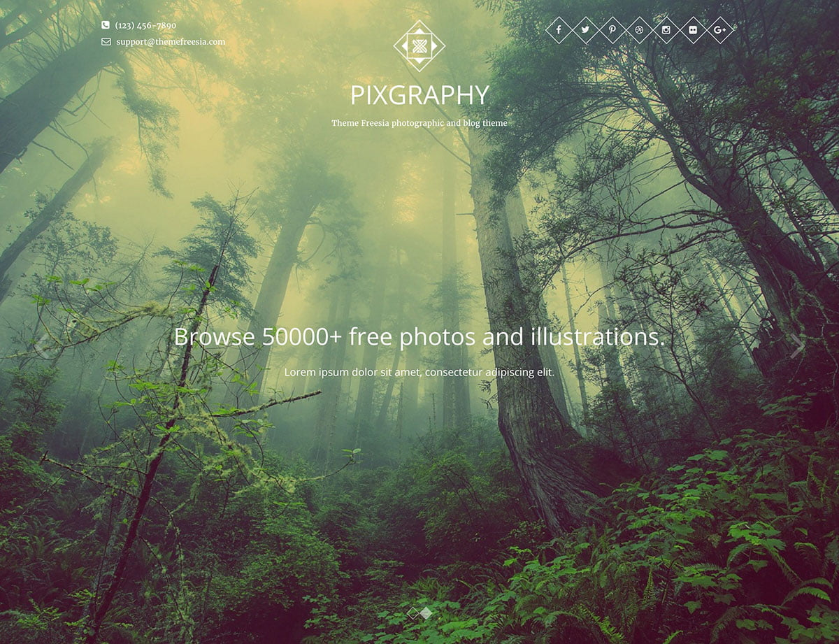 Pixgraphy - 51+ Nice Free WordPress Themes For Photography [year]