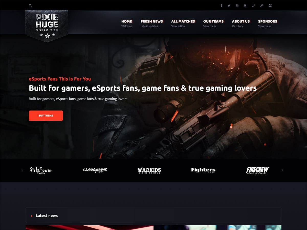 PixieHuge - 35+ Awesome WordPress Themes For Gaming [year]