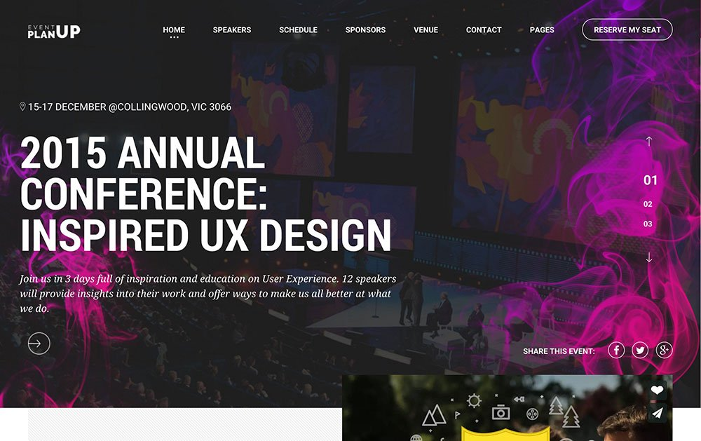 PlanUp - 40+ Amazing WordPress Themes For Events [year]