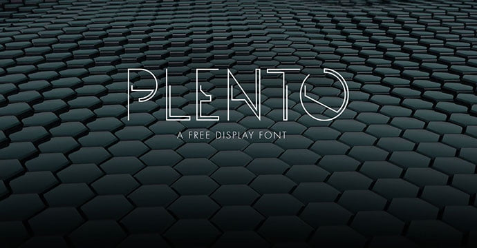 Plento - 31+ Amazing Free Double & Multi Line Fonts For Developer [year]