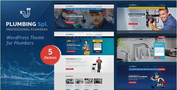 Plumbing-Spl - 36+ Awesome Plumbers WordPress Themes [year]