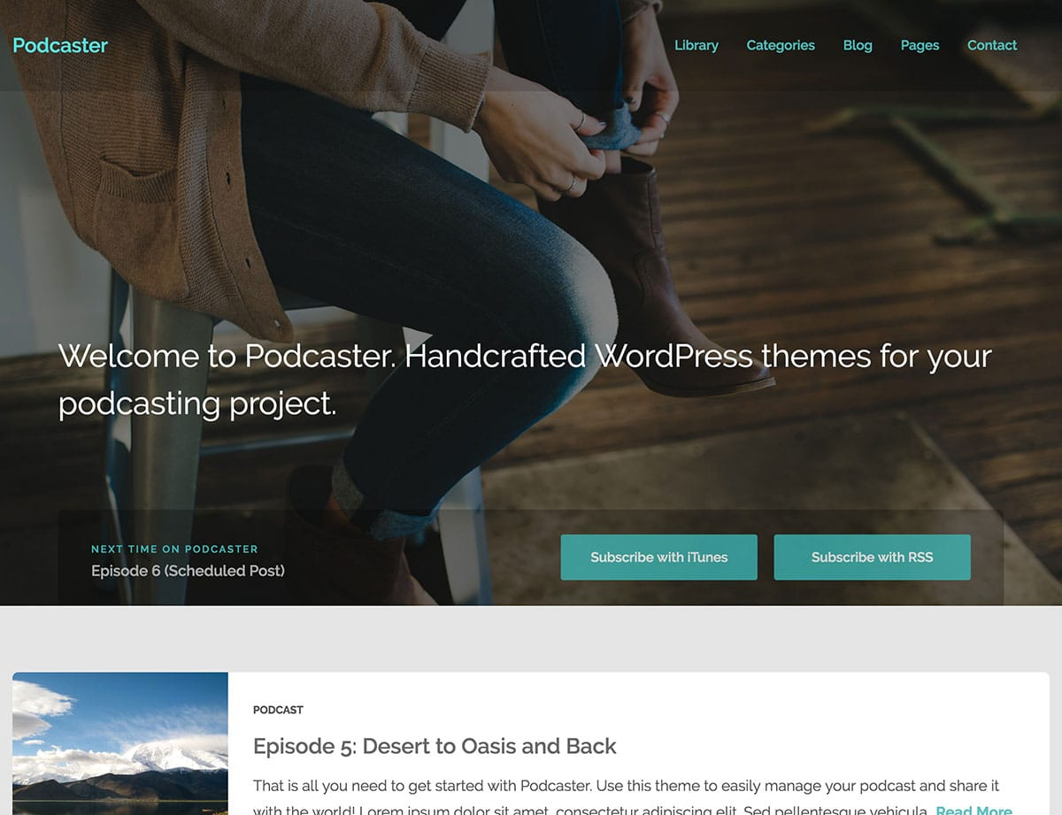 Podcaster - 36+ Awesome WordPress Themes For Podcast [year]