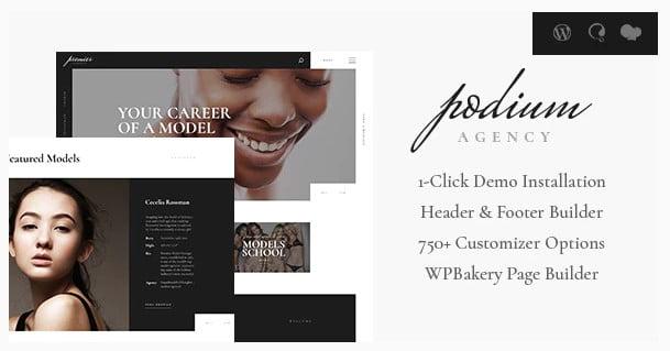 Podium-1 - 36+ Nice WordPress Model Agency Themes [year]
