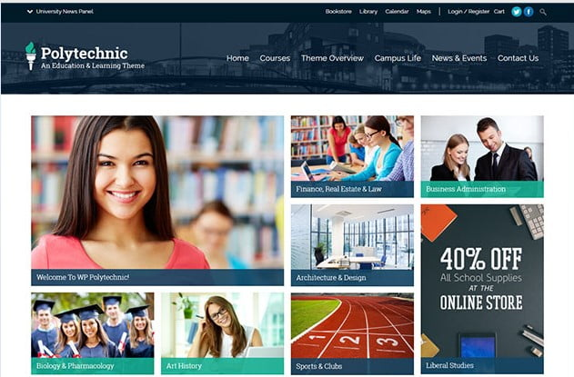 Polytechnic - 36+ Awesome WordPress Themes e-Learning [year]