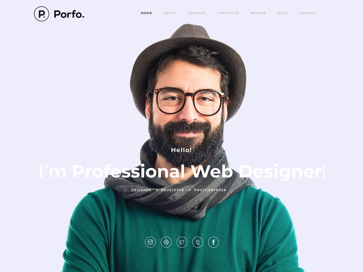 Porfo - 31+ Nice WordPress Themes For Resume [year]