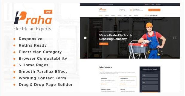 Praha - 36+ Amazing Electricians WordPress Themes [year]