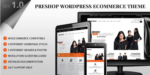 PreShop - 36+ Nice Bookstore WordPress Themes [year]