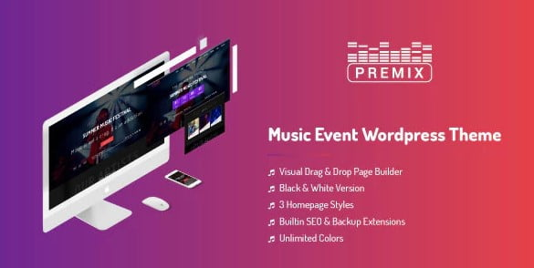 Premix - 35+ Nice WordPress Themes For Nightclub [year]